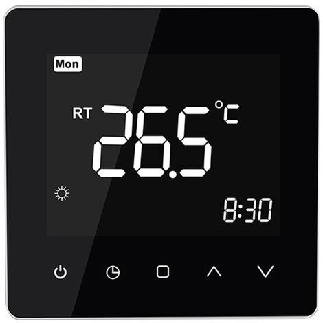 Smart Thermostat schwarz Warm