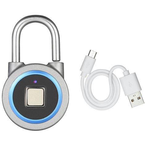 Smart USB Charging Bluetooth Fingerprint Padlock Blue
