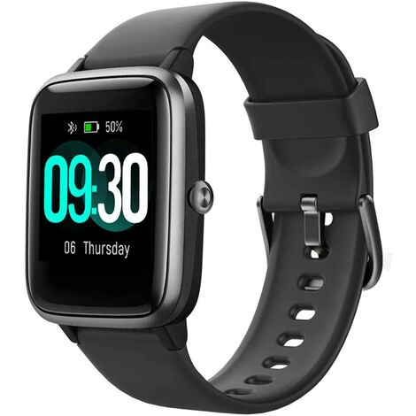 """main image of """"Smart Watch for Android Phones and iOS Phones Compatible iPhone Samsung, IP68 Swimming Waterproof Smartwatch Fitness Tracker Fitness Watch Heart Rate Monitor Smart Watches for Men Women Black"""""""