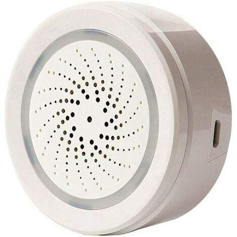 Smart WiFi Capteur d'humidité de la température intérieure et extérieure intérieure Compatible avec Alexa Google Accueil pour la Maison Maison Serre sous-Sol Garage