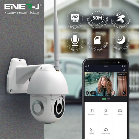 Smart WiFi Dome Outdoor IP Camera, 1080P, PTZ, IP65