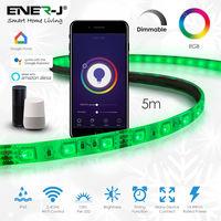 Smart WiFi RGB LED Tape Kit (5 meter IP65 tape, WiFi+IR controller & PS)
