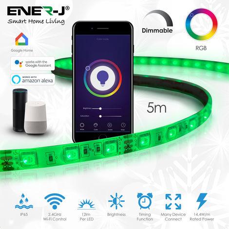 Smart WiFi RGB LED Tape Kit IP65 (5m RGB Tape, Wifi + IR Controller (2 in 1) & 6A Power Supply)