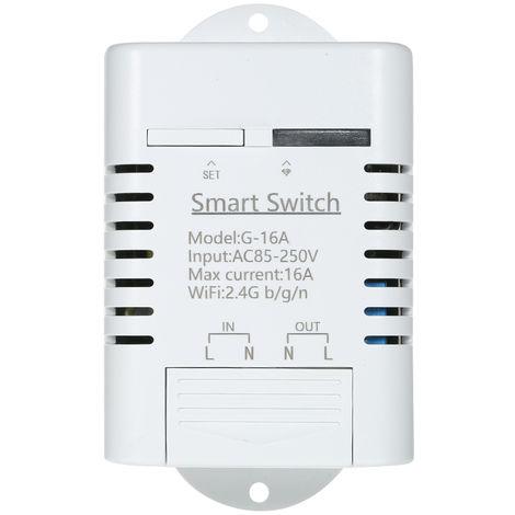 Smart Wifi Switch Wireless Remote Switch White