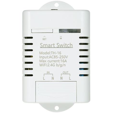 Smart Wifi Switch With Waterproof Temperature Sensor White