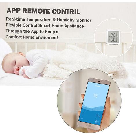 Smart Wifi Temperature Capteur D'Humidite Sans Fil Numerique Hygrometre Thermometre Interieur Hygrometre Temperature Humidite Capteur Moniteur
