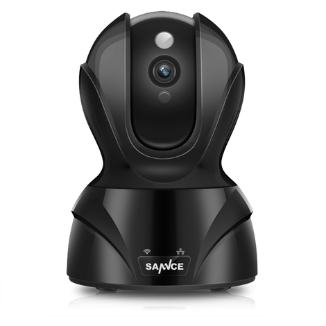 Smart Wireless Pan&Tilt Security Camera 1080P HD Romote monitoring Audio Night version Indoor black
