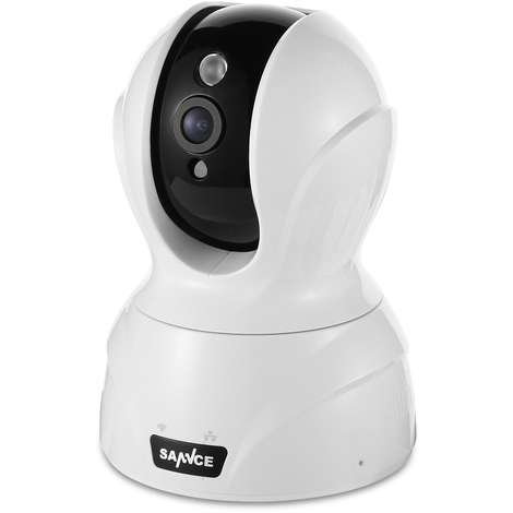 Smart Wireless Pan&Tilt Security Camera 1080P HD Romote monitoring Audio Night version Indoor white&black