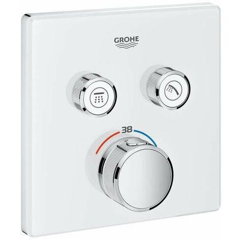 SmartControl Thermostatique encastré 2 sorties Grohe Grohtherm 29156LS0 | Moon white