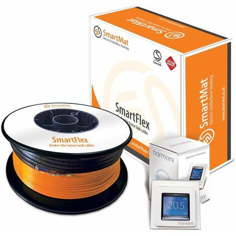 SmartFlex Cable Kit + DEVIreg Touch Programmable Thermostat - 1400W