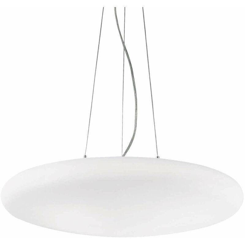 01-ideal Lux - SMARTIES BIANCO weiße Pendelleuchte 3 Lampen Durchmesser 33 cm