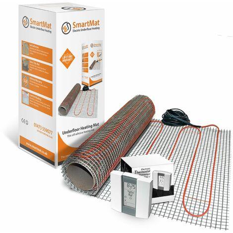 SmartMat 150w/m2 1.0m2 150w Underfloor Heating Kit + Aube TH232 Thermostat