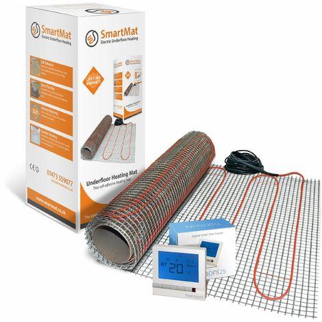 SmartMat 150w/m2 6.0m2 900w Underfloor Heating Kit + Harmoni 25 Thermostat