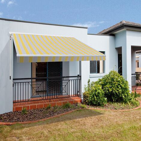 SmartSun Store banne complet motorisé - 3x2m et 4x2,5m pour terrasse, balcon, jardin - différentes couleurs - avec moteur