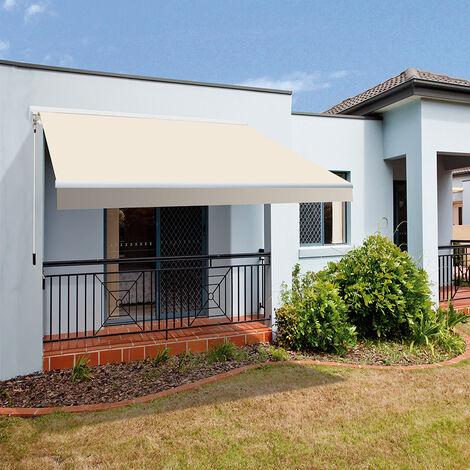 SmartSun Toldo completo manual o con motor - 3x2m y 4x2,5m para terraza, balcón, jardín - varios colores