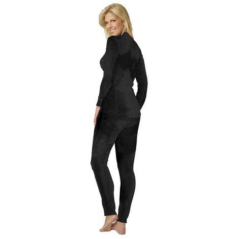Smarttex Combinaison pyjama deux pièces pour femme coloris noir - taille 46/48