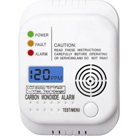 Smartwares® Détecteurs de monoxyde de carbone (CO) - RM370 - avec écran LCD