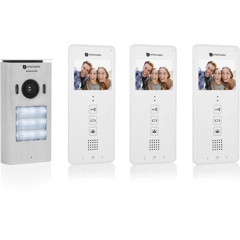 Smartwares DIC-22132 Interphone vidéo pour 3 appartements