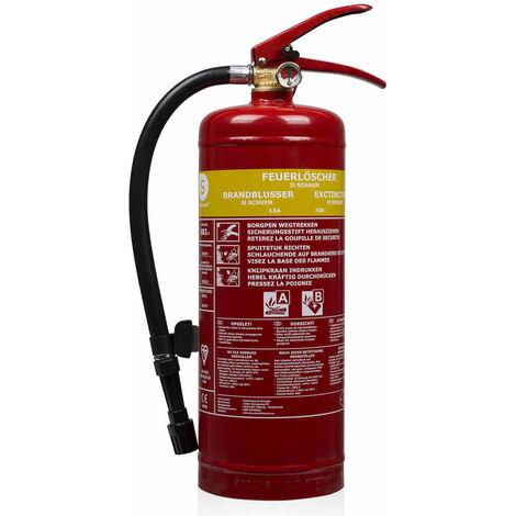 Smartwares Extintor de espuma 3 L clase AB acero FEX-15230