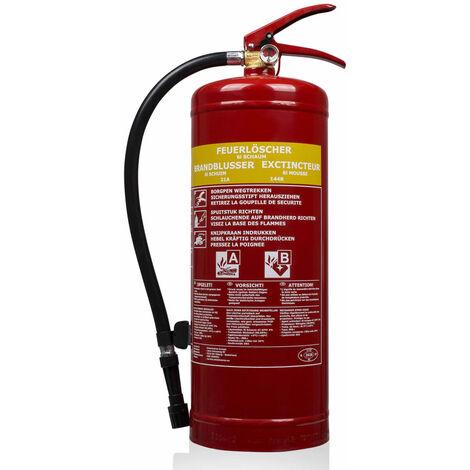 Smartwares Extintor de espuma SB6 6 L clase AB acero 10.015.05