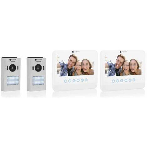SMARTWARES Interphone vidéo 2 fils avec écran couleur 7 pouces pour 2 appartements DIC-22222