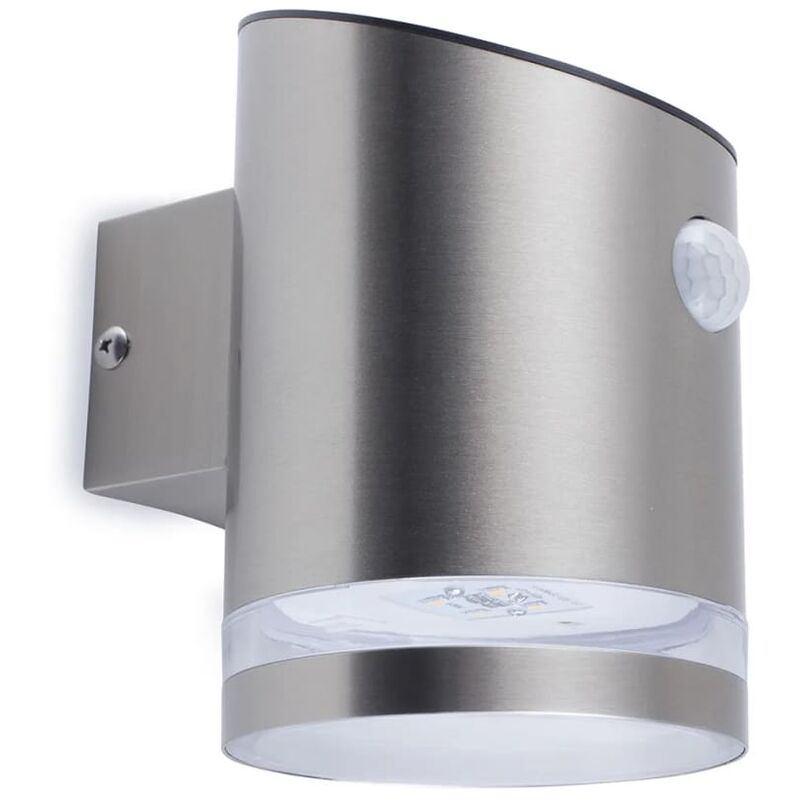 Applique Solare con Sensore PIR Argento 5000.701 - Plateado - Smartwares
