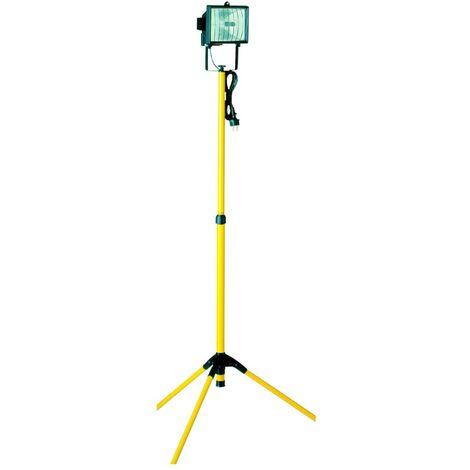 Smartwares Luz de trabajo halógena amarilla 17,7x17,7x105-192 cm