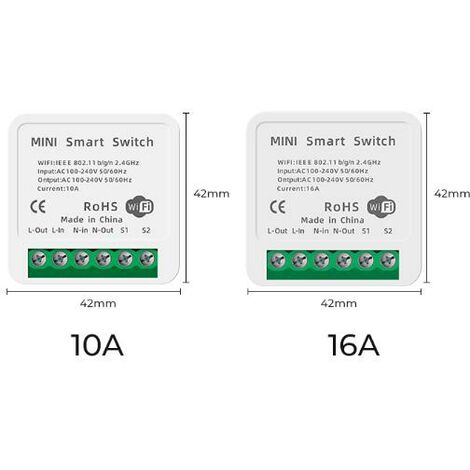 SMATRUL 16A MINI bricolage interrupteur WiFi lumière LED interrupteur
