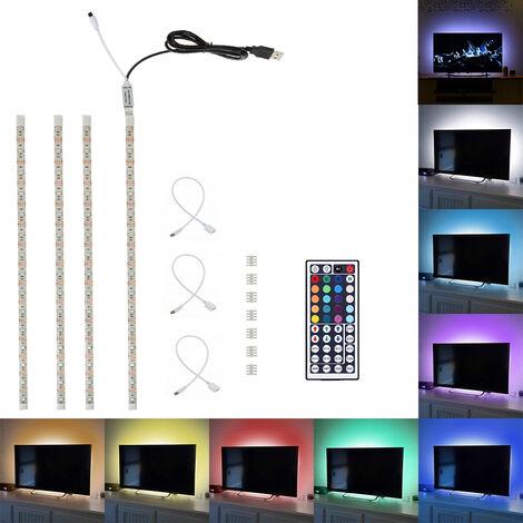 SMD 5050 RGB USB LED bandes de lumière pour TV Strips éclairage de fond étanche