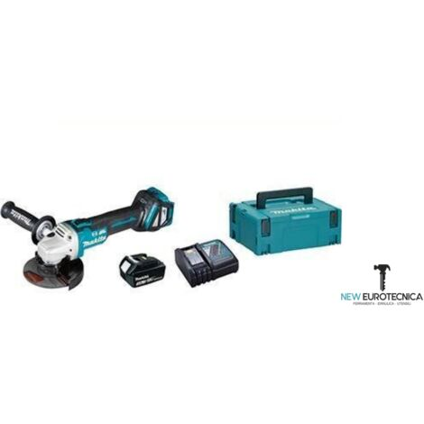 Smerigliatrice angolare batteria dga513zj makita-mm 125 volt 18x1 ah 3,0+valigia