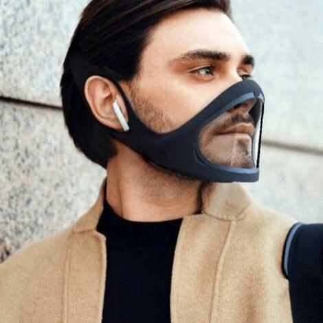 SMILE MASK : Masque silicone transparent avec visière ouvrante