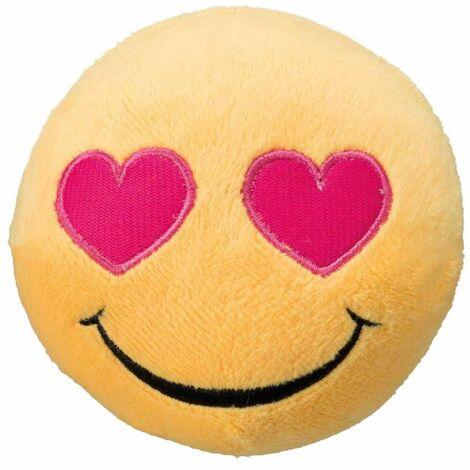 Smiley amoureux, peluche - ø 9 cm