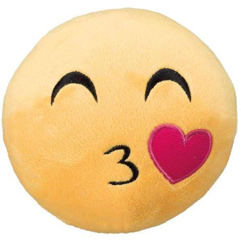 Smiley bisous, peluche - ø 14 cm