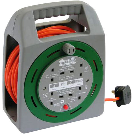 SMJ 20M 4 Extension Socket Cable Reel 10amp CT2010