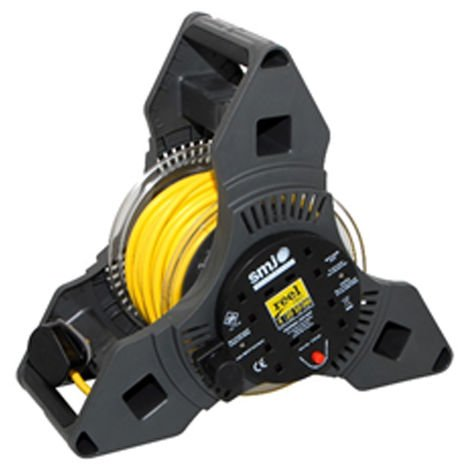 SMJ 20M Tripro 4 Extension Socket Cable Reel & Thermal Cutout 10amp
