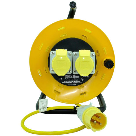 SMJ 50M 2 Way Extension Cable Reel 16amp 110V CR5016