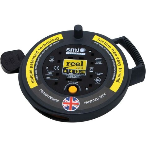 SMJ CP0413 Cable Reel Pro 4-GANG13AMP 4MTR Lead Thermal Cutout