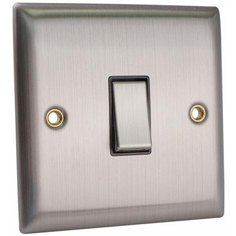 SMJ PPLS1G2W-BS 2-Way Light Switch 1-Gang Brushed Steel