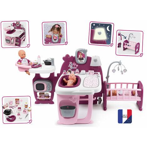SMOBY Baby Nurse Grande Maison des Bebes - 3 Espaces de Jeux - 23 Accessoires