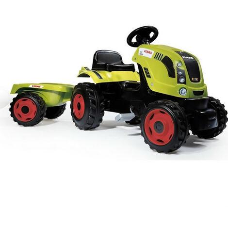 SMOBY CLAAS Tracteur a pedales Farmer XL + Remorque