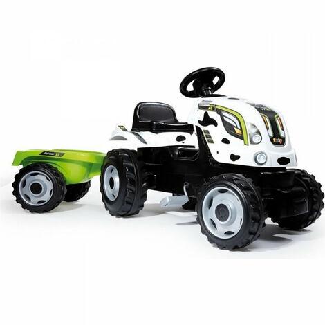 SMOBY Tracteur a pedales Farmer XL Vache + Remorque