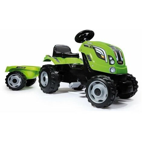 SMOBY Tracteur a pedales Farmer XL Vert + Remorque