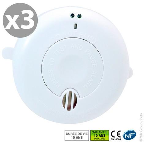 Smoke alarm - 3 pack - NF BRK SA410Li