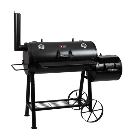 Smoker Grill Holz Holzkohle MS-500 Master Räucherofen Räuchern BBQ Kohlegrill