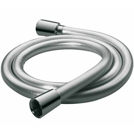 Smooth Shower Hose 1.5m Pipe PVC Double Interlock Silver Chrome Fits Triton Mira