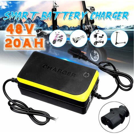 SMT Technology 48V 20AH Yellow Lead Acid Battery Charger for Electric Bike Motorcycle Adapters