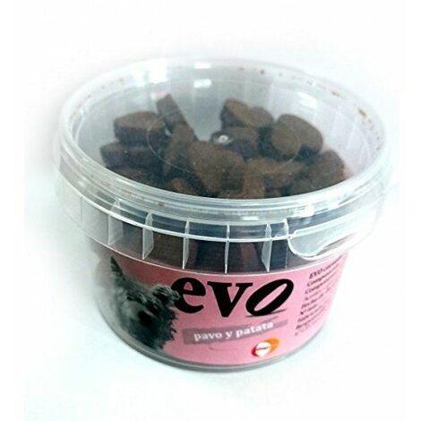 Snack para perros con pavo y patata EVO CORAZÓN 140g