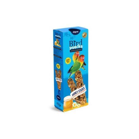 Snacks para pájaros Dapac Barritas Miel para Agapornis 112 gr.