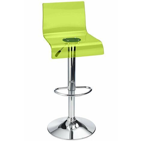 Snazzy Adjustable Acrylic Bar Stool Green