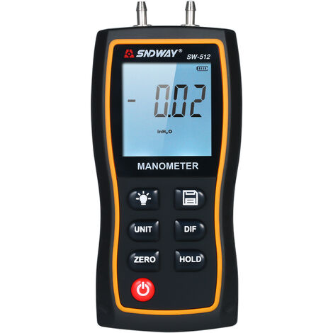 SNDWAY High Precision Differential Manometer Hand-held LCD Digital Dual-port Manometer